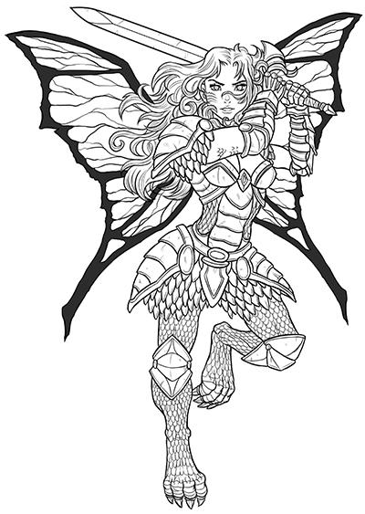 Half-Faerie Dragon Fighter