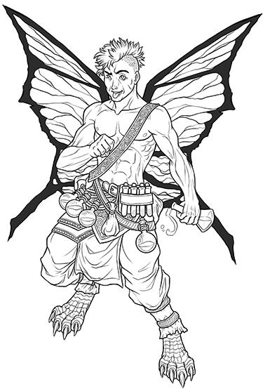 Half-Faerie Dragon Alchemist