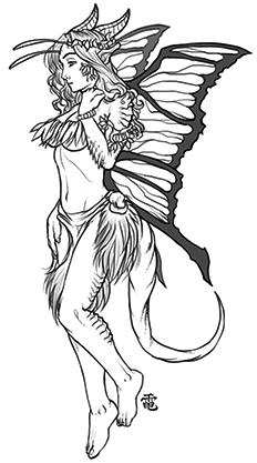 Half-Faerie Dragon Sorceress