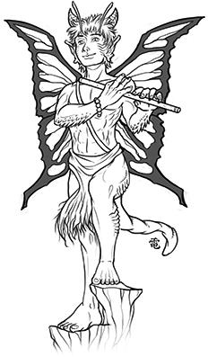 Half-Faerie Dragon Bard