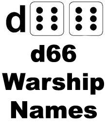 d66 Warship Names