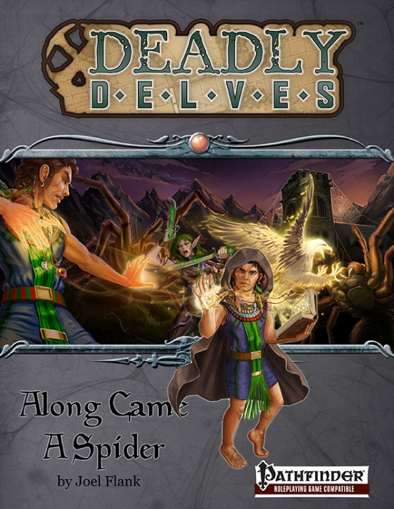 Deadly Delves: Along Came A Spider (PFRPG)